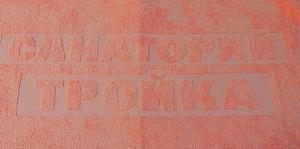 Логотип в структуре махры